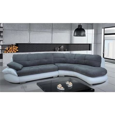 cdiscount canapé d angle canapé d 39 angle regal gris et blanc angle droit achat