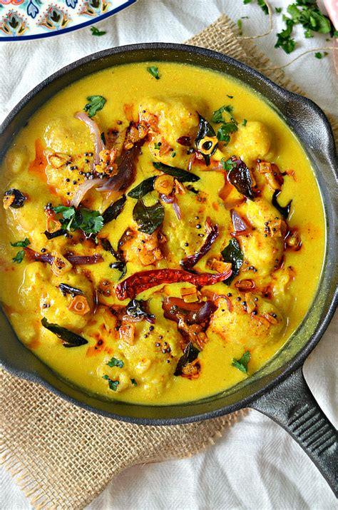 punjabi kadhi pakoda  veggie indian