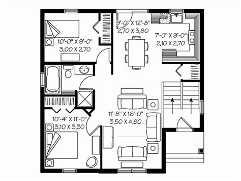 30x30 2 bedroom floor plans eplans traditional house plan two bedroom traditional
