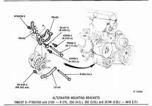 1984 F150 Xlt 5 8l Ho   351w  Belt Routing