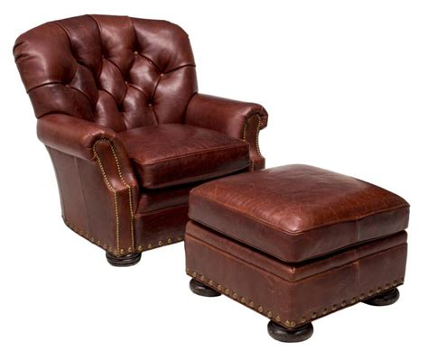 brown leather chair with ottoman 2 brown leather tufted club chair ottoman
