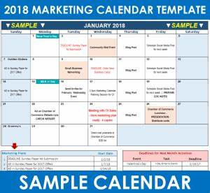how to use your 2018 marketing calendar template free With marketing campaign calendar template