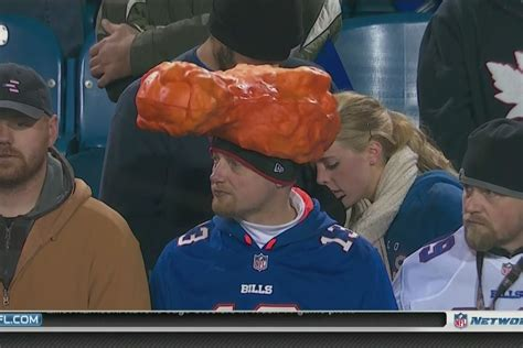 bills fans wearing buffalo wing hats  sbnationcom