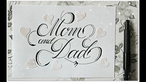 cursive fancy letters   write mom  dad easy