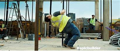 Construction Worker Outside Spreads Density Minneapolis Downtown