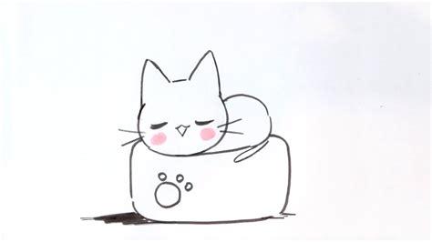 Tutoriel de dessin pour un manga fille : Dessiner un chat facilement #7 - Dessiner un chat Kawaii sur un oreiller Japonais - Méthode ...