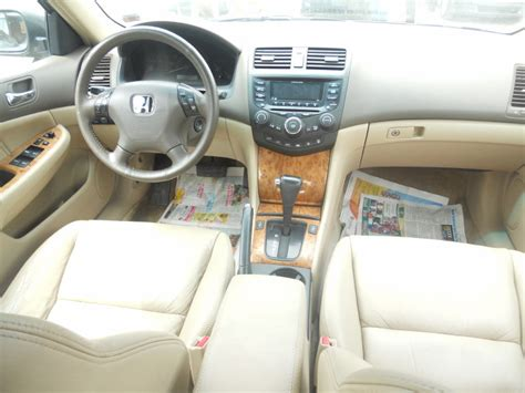 honda accord   clean gold color  leather