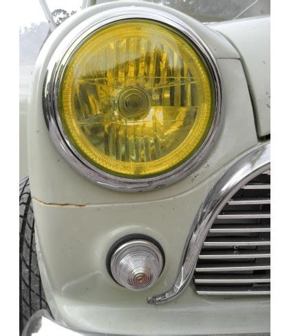 angel eye headlights classic mini rhd yellow