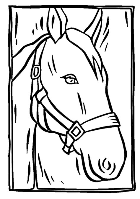 Horse Head Coloring Page | Purple Kitty