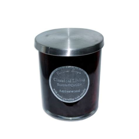 cm scented candle  glass jar  stainless steel lid