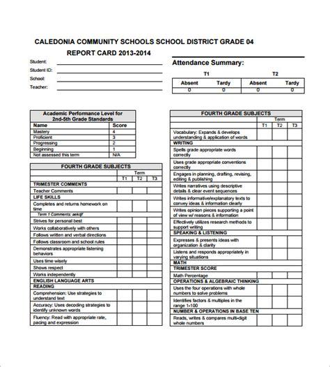 progress report card templates google   psd