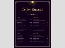 Customize 70+ Fancy Menu templates online Canva