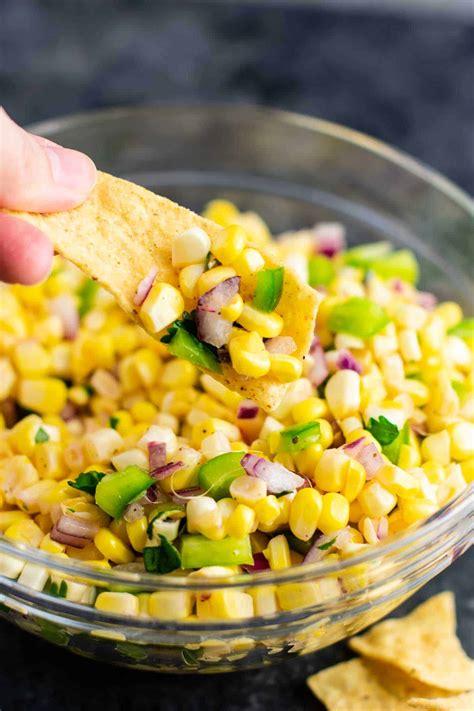 fresh corn salsa recipe build  bite