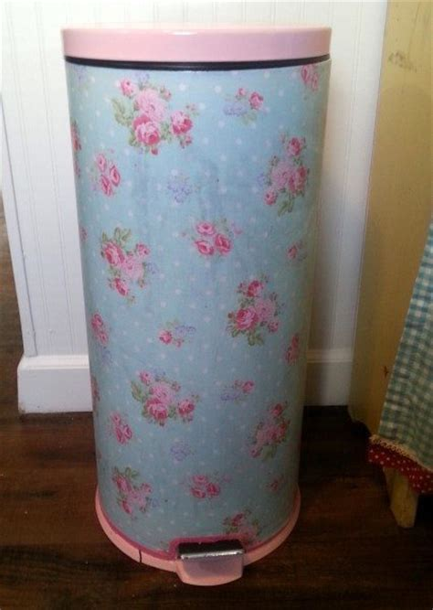 shabby chic garbage can a pretty trash can makeover for a cottage style kitchen