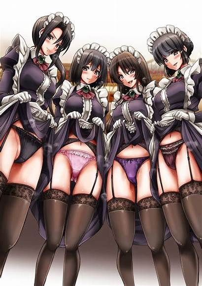 Kancolle Maid Kantai Haguro Anime Ashigara Panties