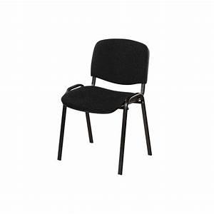 Chaise Pied Metal Noir : chaise de conf rence iso en tissu polyfibre noir 4 pieds en m tal poxy noir ~ Teatrodelosmanantiales.com Idées de Décoration