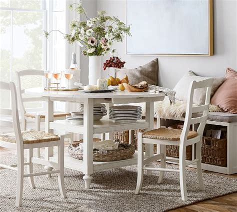 shayne drop leaf kitchen table white pottery barn