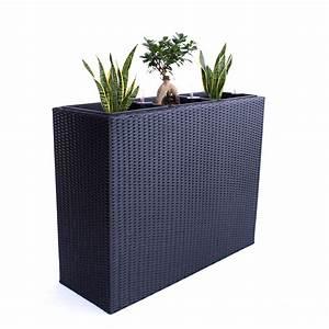 Pflanztrog Raumteiler Fiberglas : xxl pflanztrog polyrattan als raumteiler 82x30x80cm schwarz ~ Sanjose-hotels-ca.com Haus und Dekorationen