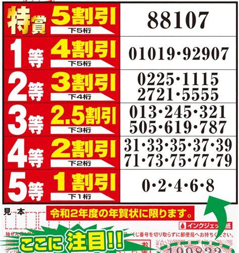 年賀状 くじ 当選 番号 2021