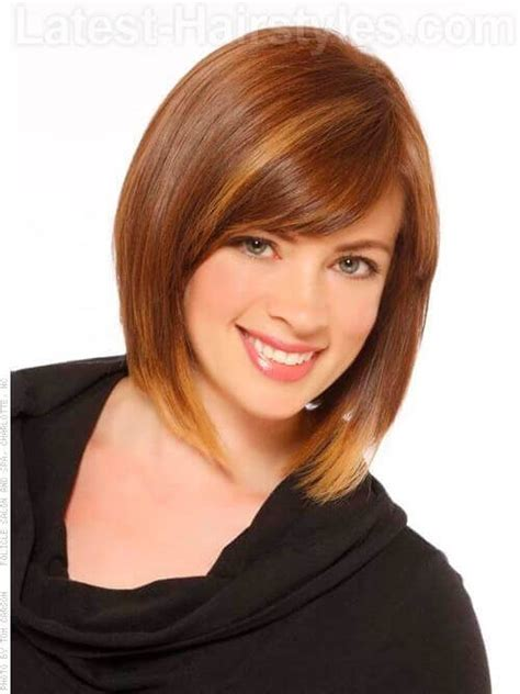 A Frame Hairstyles by Highlighted Bob Haircut For