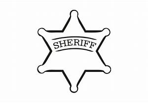 Sheriff Badge Wall Decal - Cool Vinyl Art for Boys
