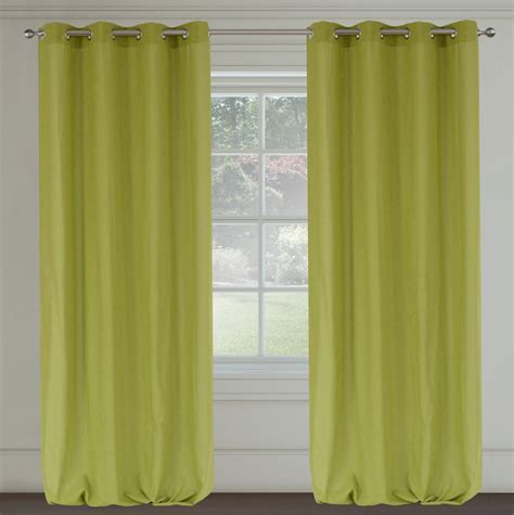 chartreuse curtains drapes maestro linen like grommet curtain pair 54x95 quot in