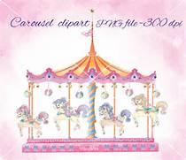 Carousel set clipart  ...
