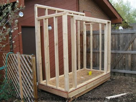 free standing lean to shed build a shed against a wall metal sheets