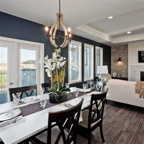 wall colour throughout is bm chantilly lace trim is bm balboa mist navy accent wall is bm hale