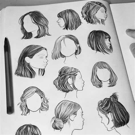 hair studies  biro feeling  comfortable