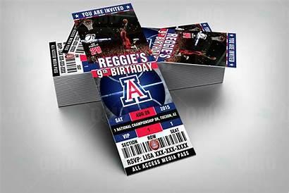 Wildcats Arizona Invites Ticket Ncaa Invitations Basketball