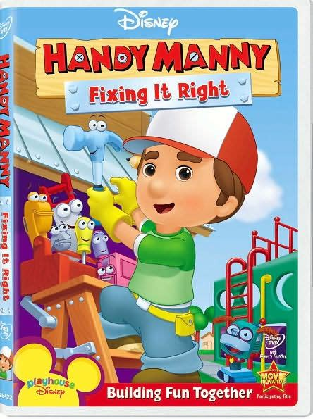 uh barnes and noble handy manny fixing it right 786936744293 dvd
