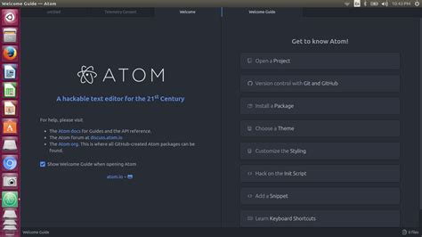 how to install atom text editor in ubuntu linux the