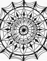 Coloring Kaleidoscope Pages Adults Printable Popular Axo sketch template