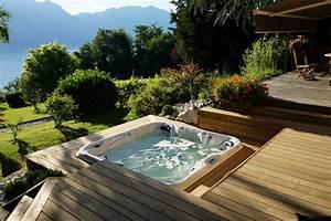 Spa Extérieur Bois : spa encastre montagne terrasse en bois grenoble ~ Premium-room.com Idées de Décoration