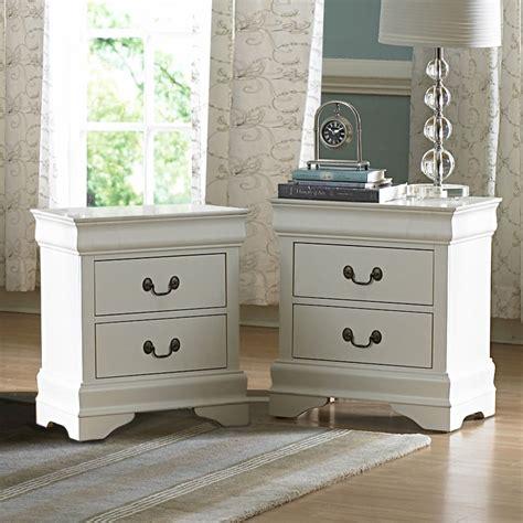 oxford creek white  drawers nightstand set   medium