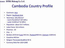 PPT Cambodia Country Profile PowerPoint Presentation