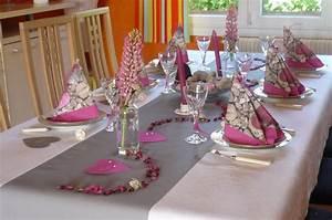 Deco Table Rose Et Gris : dimanche rose et gris p 39 tites id es ~ Melissatoandfro.com Idées de Décoration