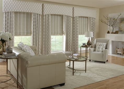 Valances Window Treatments For Living Room by Horizons Window Treatments Villa Blind And Shutter