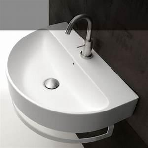 Waschbecken 70 Cm : axa waschbecken halbrund normal 50cm 60cm 70 cm design romano adolini ~ Indierocktalk.com Haus und Dekorationen