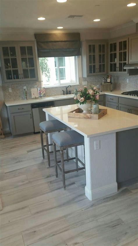 blue grey wood floors kitchen cabinet remodel kitchen
