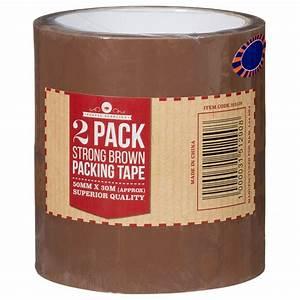 B U0026m Packaging Tape 50mm X 30m 2pk