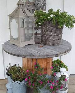 Table Basse Campagne Chic : 1001 id es astuces brico pour cr er une table en touret ~ Teatrodelosmanantiales.com Idées de Décoration