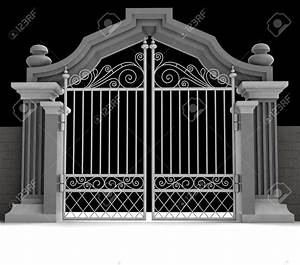 Cemetery gate clipart - Clipground