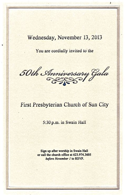 invitation    anniversary gala dinner