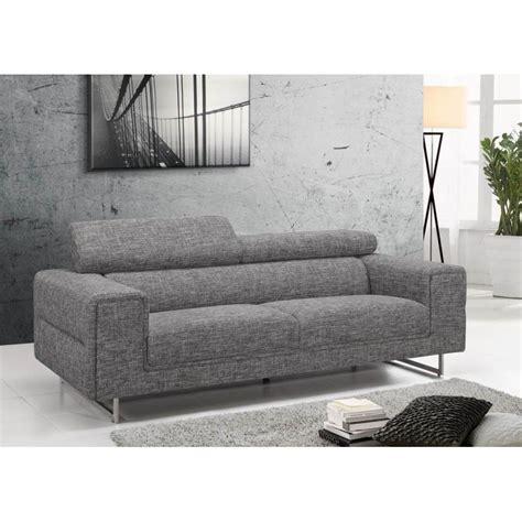 canapé contemporain design canap fixe contemporain gris clair beverly