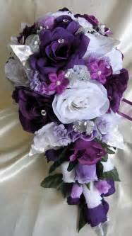 floral purple and silver wedding centerpiecewedwebtalks wedwebtalks
