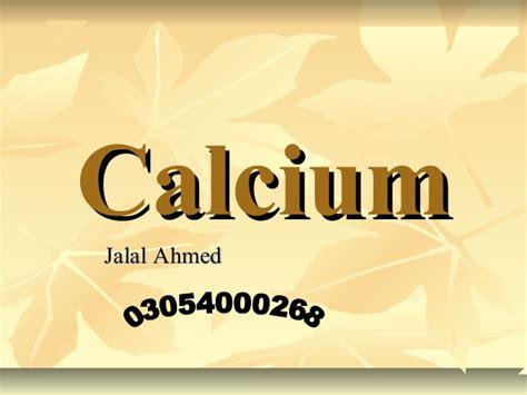 calcium presentation