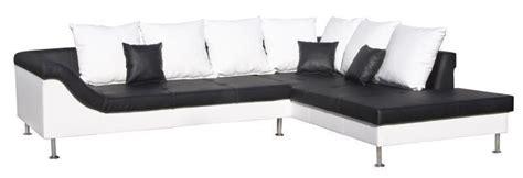 depot vente canape canape d 39 angle verona noir et blanc
