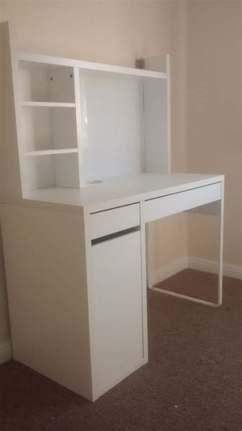 Ikea Cupboard Shelves by Small Ikea Work Desk Shelves Cupboard And Two Drawers